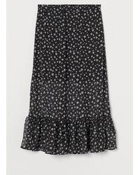 H&M Crêpe Skirt - Black