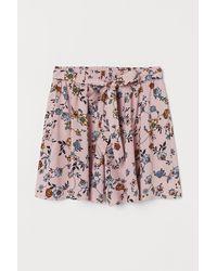 H&M Short à motif - Rose