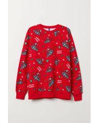 H&M - Christmas Sweatshirt - Lyst