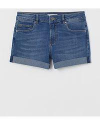 H&M Short Denim Shorts - Blue
