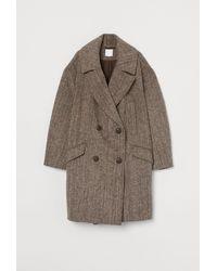 H&M Oversized Wool-blend Coat - Brown