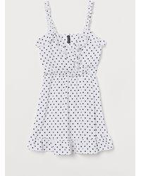 H&M Wickelkleid mit Volants - Weiß