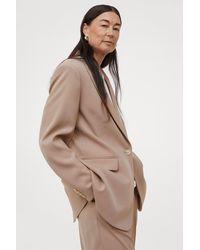 H&M Single-breasted Jacket - Natural