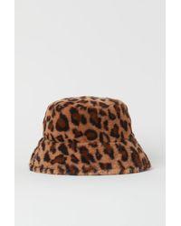 H&M Faux Fur Bucket Hat - Yellow