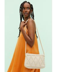 H&M Textured-weave Clutch - Natural