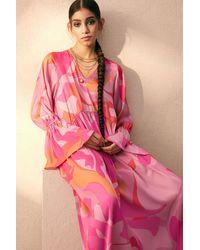H&M Wide-cut Dress - Pink