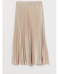 H&M Jupe plissée - Neutre