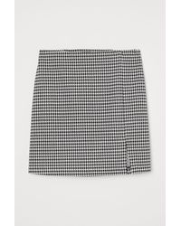 H&M - Fitted Jersey Skirt - Lyst