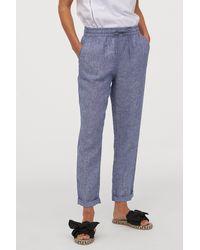 H&M Linen Sweatpants - Blue