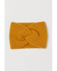 H&M Gestricktes Stirnband - Gelb
