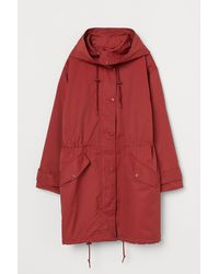 H&M Hooded Parka - Red