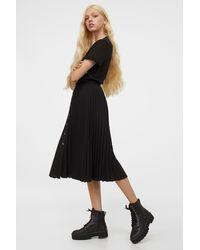 H&M - Pleated Skirt - Lyst