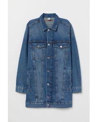 H&M Longue veste en jean - Bleu