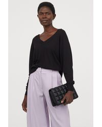 H&M V-neck Sweater - Black