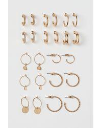 H&M 12 paires d'anneaux - Métallisé