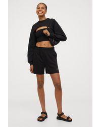 H&M High Waist Shorts - Black