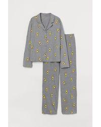 H&M - Zweiteiliger Pyjama - Lyst