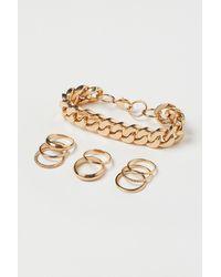 H&M Armband und Ringe - Mettallic