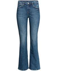 H&M Boot cut Regular Jeans - Blau