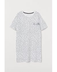 H&M Chemise de nuit en coton - Blanc