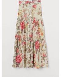H&M - Patterned Skirt - Lyst