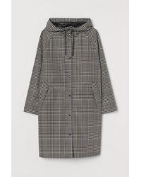 H&M H & M+ Hooded Rain Coat - Natural