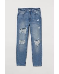 H&M Skinny High Ankle Jeans - Blau