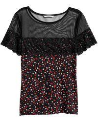 H&M - Shirt mit Spitze - Lyst