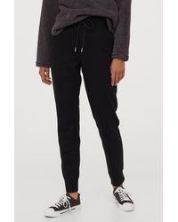 H&M Cotton-blend sweatpants - Black