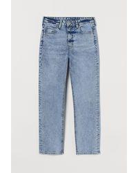 H&M Vintage Slim High Ankle Jeans - Bleu