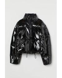 H&M Short Puffer Jacket - Black
