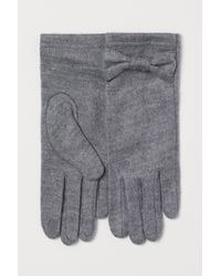 H&M Fine-knit Gloves - Grey