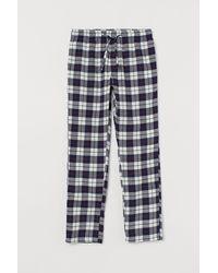 H&M Flannel Pyjama Bottoms - Blue