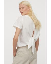 H&M Tie-detail Top - White