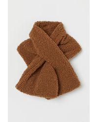 H&M Schal aus Teddyfleece - Natur
