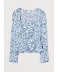 H&M - Gemusterte Bluse - Lyst