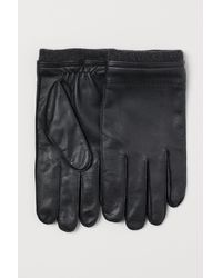 H&M Gants en cuir - Noir