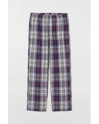 H&M Pyjamahose aus Baumwolle - Weiß
