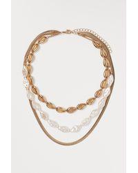 H&M Three-strand Necklace - Metallic