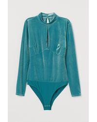 H&M Long-sleeved Body - Blue