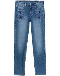 H&M Slim Regular Boyfriend Jeans - Blauw