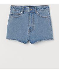 H&M Short en jean High Waist - Bleu