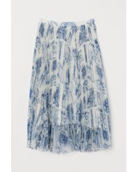 H&M Pleated Skirt - White