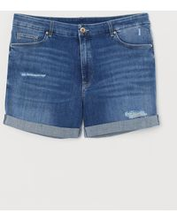 H&M H & M+ Embrace Denim Shorts - Blue