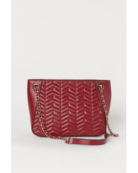H&M Gesteppte Handtasche - Rot