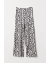H&M Trousers With Slits - Natural