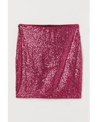 H&M Schimmernder Rock - Pink