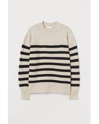 H&M Fine-knit Jumper - Natural