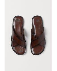 H&M Leather Slides - Brown