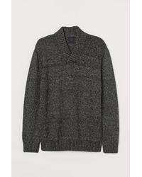 H&M Pullover mit Schalkragen - Grau